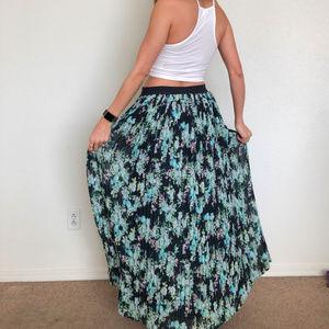 LC Lauren Conrad Skirts - LC Lauren COnrad Floral Maxi Skirt